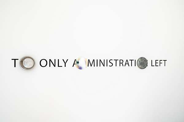 Ben Rosenthal (*1990): no 2. (The Only Administration Left), 2018. Foto: Lorenzo Pusterla.