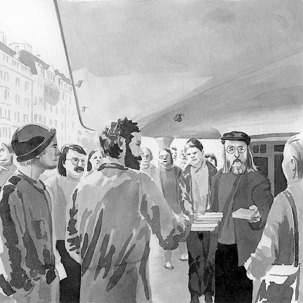 Zu Reto Hänny: «Zürich, Anfang September» (1980/1981) | Illustration: Julia Kuster